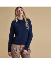 Barbour - Droplet Cropped Ladies Knit - Lyst