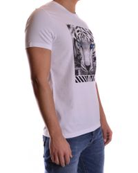 Dirk Bikkembergs - Men's C728sfseb023a00 White Cotton T-shirt - Lyst
