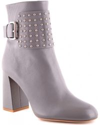 RED Valentino - Grey Studded Ankle Boots - Lyst