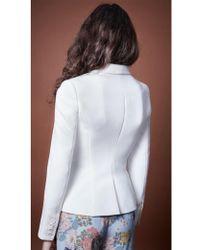 Smythe - Wrap Blazer In White - Lyst