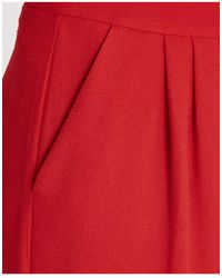Essentiel - High Waist Palazzo Pants In Red - Lyst