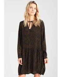 Custommade• - Zella Dress In Dark Olive - Lyst