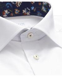 Eton of Sweden - Slim Fit Floral Trim Shirt - Lyst