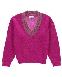 Essentiel - Antwerp Singapore Trimmed Sweater Fuchsia - Lyst