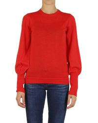 Erika Cavallini Semi Couture - Sweater In Red - Lyst