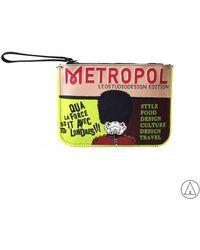 """Leo - • """"metropolitan"""" Clutch In Red - Lyst"""