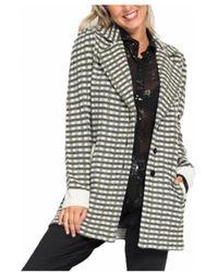 Patrizia Pepe - Printed Blazer In Grey - Lyst