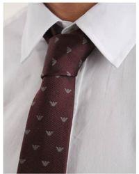 Armani Jeans - Eagle Micro Tie - Lyst