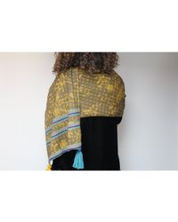 Atterley - Alicia Knitted Stole In Gold - Lyst