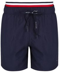 Tommy Hilfiger - Men's Double Waistband Swim Shorts - Lyst