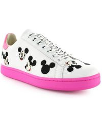 90cf9ebba4be Vans X Disney  old Skool  Mickey Mouse Canvas Sneakers in White - Lyst