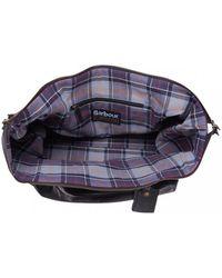 Barbour - Leather Med Black Travel Explorer Bag - Lyst