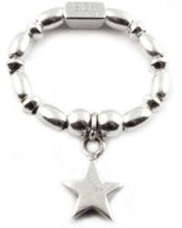 ChloBo - Rice & Disc Ring With Star Charm - Lyst