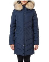 Pajar - Chelsea Chevron Quilted Coat Navy - Lyst