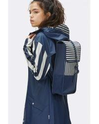 Rains - Distorted Stripes Mini Backpack - Lyst