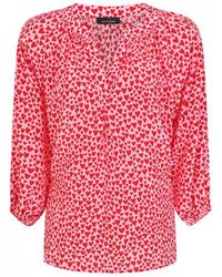 Mercy Delta - Clevedon Silk Printed Blouse Hearts Primrose - Lyst