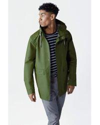 Parka London - Parka Caleb Rifle Green Raincoat - Lyst