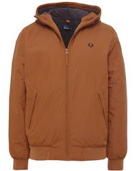 Fred Perry - Padded Hooded Brentham Jacket - Lyst