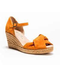Cara - Giselle Knotted Peeptoe Wedged Espadrille - Lyst