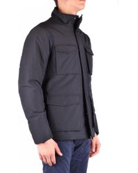 Armani Jeans - Blue Polyester Outerwear Jacket - Lyst