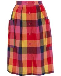 Emily and Fin - Zoe Sunset Plaid Skirt - Lyst