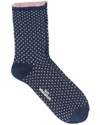 Becksöndergaard - Dina Dot Sock In Medieval Blue - Lyst