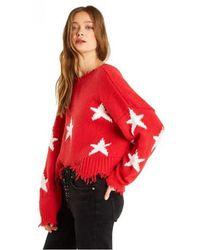 Wildfox - Stars Deep Red Cotton Jumper - Lyst