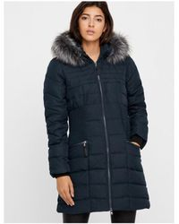 Y.A.S - Carbon Blue Down Filled Jacket - Lyst