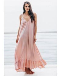 9seed - Paloma Ruffle Maxi Dress - Lyst