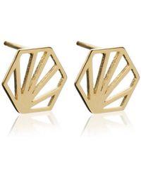 Rachel Jackson - Hexagon Earrings - Lyst