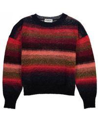 Essentiel - Antwerp Recife Brushed Striped Jumper Red/pink/blue - Lyst