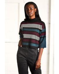 Native Youth - Beaufort Black Striped Crop Knit - Lyst