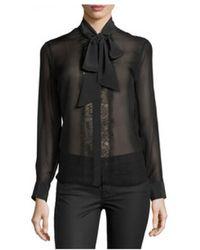 Equipment - Leema Tie Neck Silk Blouse - Lyst