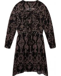 Maison Scotch - Printed Sheer Dress In Combo A - Lyst