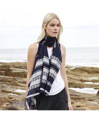 Begg & Co - Staffa Lightweight Cashmere And Silk Monreith Scarf - Lyst