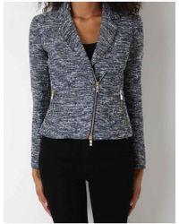 Armani Jeans - Wool Asymmetrical Jacket - Lyst