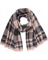 Markus Lupfer - Check Jaquard Scarf Pink & Charcoal - Lyst