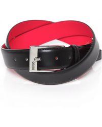 HUGO - Leather Barney Belt - Lyst