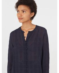 Nice Things - Crepe Blouse In Navy - Lyst