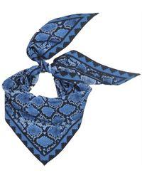 Rockins - Neckerchief In Blue Snakeskin - Lyst