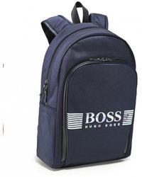f6fa5d3f333 BOSS Green By Hugo Boss Logo Pixel Backpack in Black for Men - Lyst