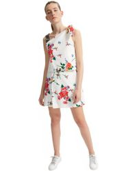 Sportmax - Code Asymmetric Knotted Floral Dress - Lyst