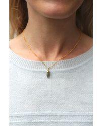 Mirabelle - Mini Labradorite Point Necklace - Lyst