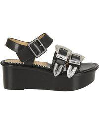 Toga Pulla - Sandal In Black Leather - Lyst