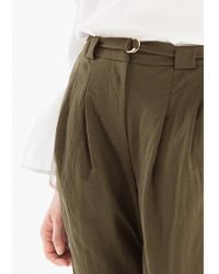 Paisie - Peg Leg Trousers With Self Fabric D-ring Belt (with Self Belt) In Green - Lyst