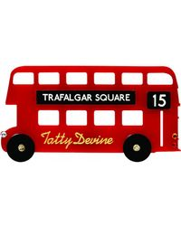 Tatty Devine - London Bus Brooch - Lyst