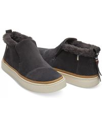 TOMS - Forged Iron Faux Fur Paxton Boot - Lyst