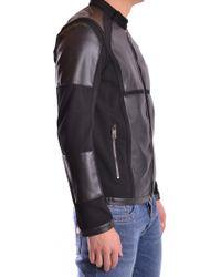 Dirk Bikkembergs - Men's C394lfje4264c52 Grey/black Viscose Outerwear Jacket - Lyst