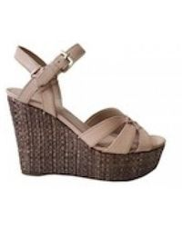 Guess - Wedged Sandals In Beige - Lyst