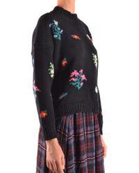 Philosophy Di Lorenzo Serafini - Floral Intarsia Sweater - Lyst